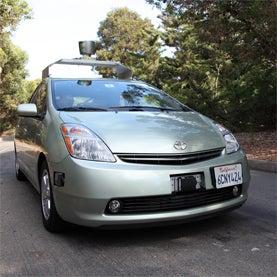 Google, Prius, car, robot