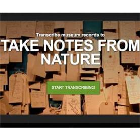 Zooniverse: Notes from Nature
