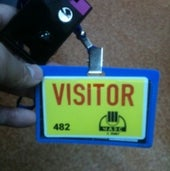 VISITOR'S BADGE: