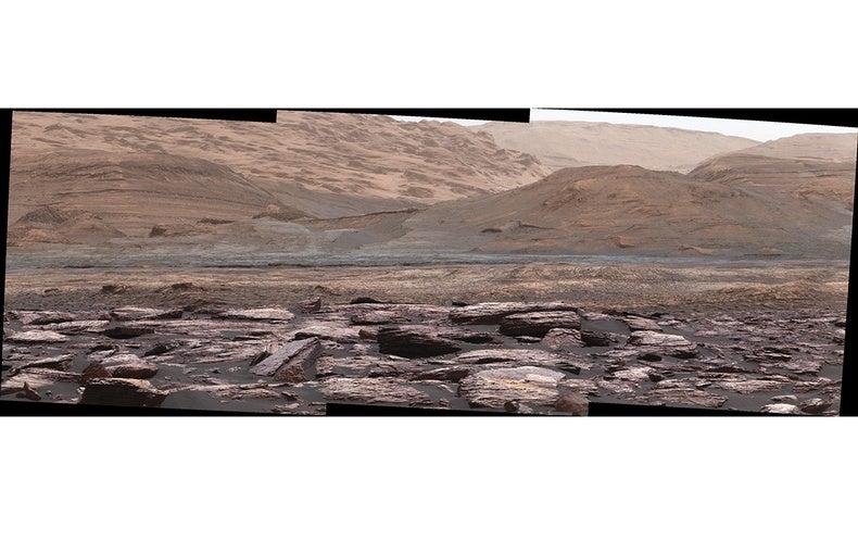 Curiosity Rover Spies Purple Rocks on Mars