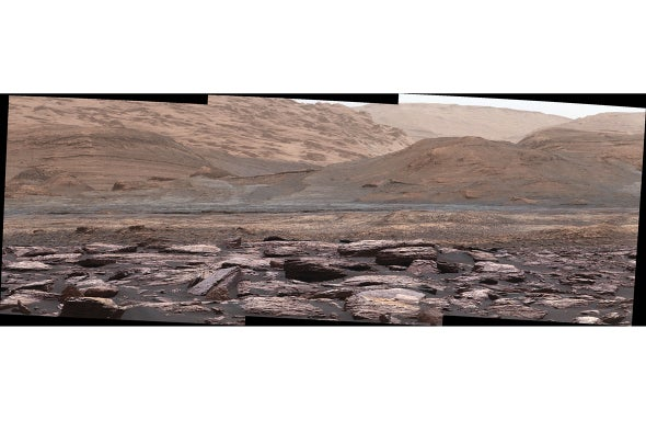 Curiosity Rover Spies Purple Rocks on Mars