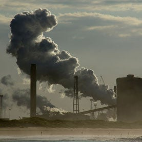 Picture of Redcar steel works.