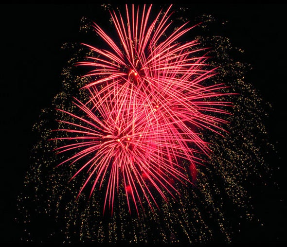 Red Fireworks Lose Cancer-Causing Potential